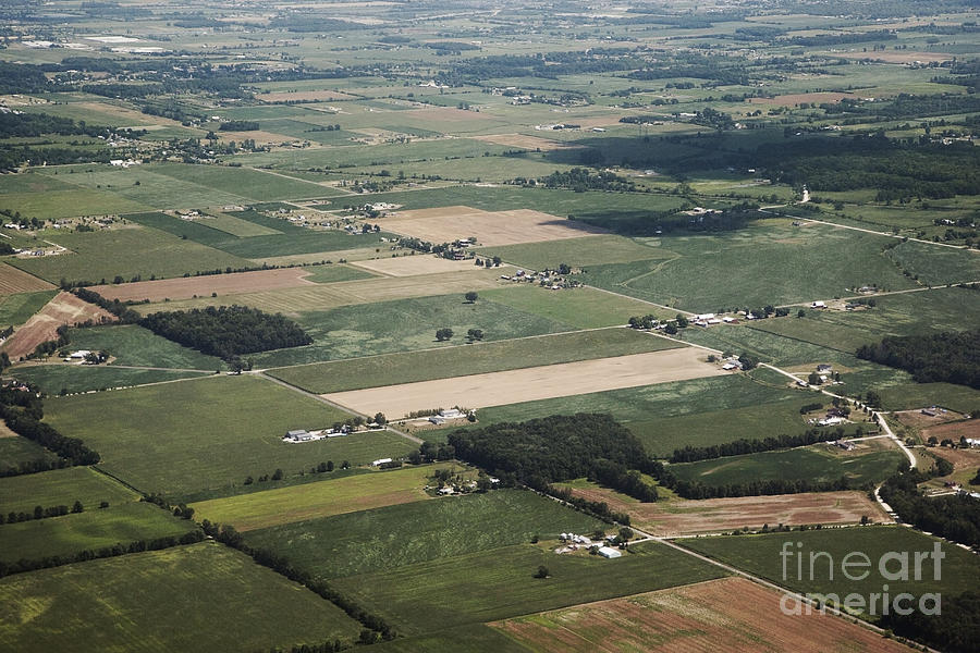 Aerial Photograph - Aerial View Of Landscape by Shannon Fagan