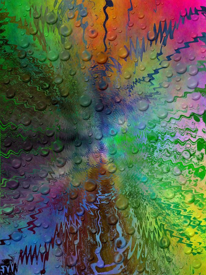 Abstract Digital Art - After The Rain 2 by Tim Allen