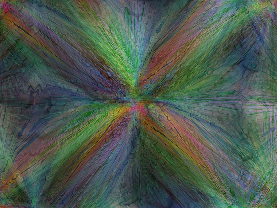 Abstract Digital Art - After The Rain 3 by Tim Allen