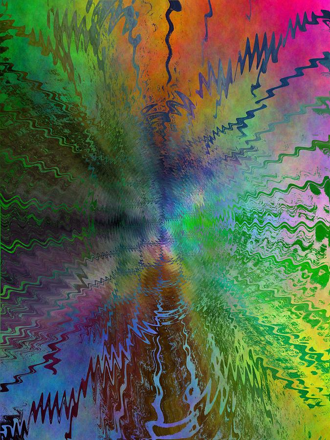 Abstract Digital Art - After The Rain  by Tim Allen