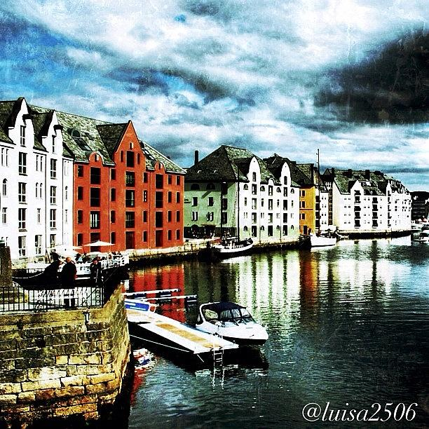 Vintage Photograph - Alesund-norway by Luisa Azzolini