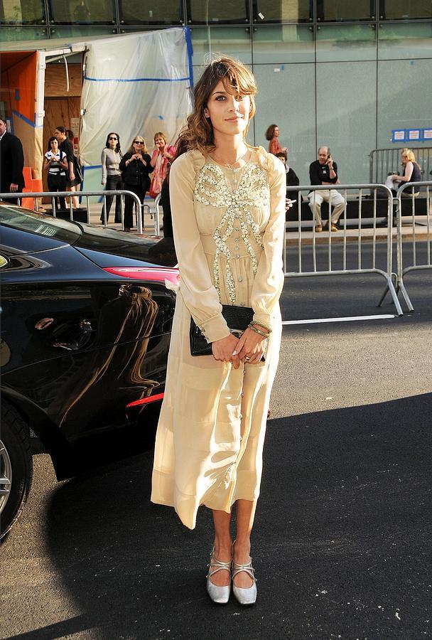 Alexa Chung Photograph - Alexa Chung Wearing A Marc Jacobs Dress by Everett