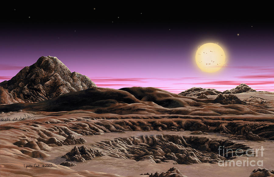 Lynette Cook Painting - Alpha Centauri System by Lynette Cook