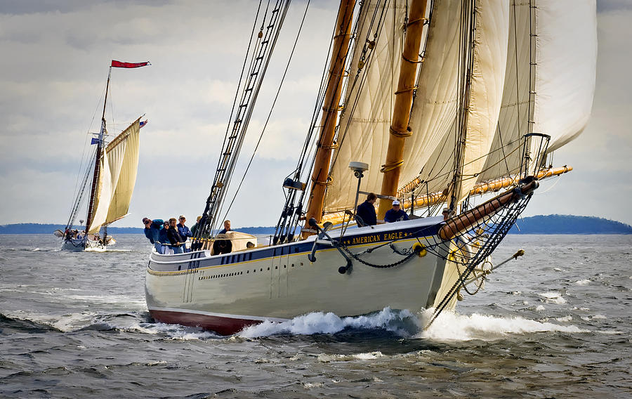 Windjammers Photograph - American Eagle by Fred LeBlanc