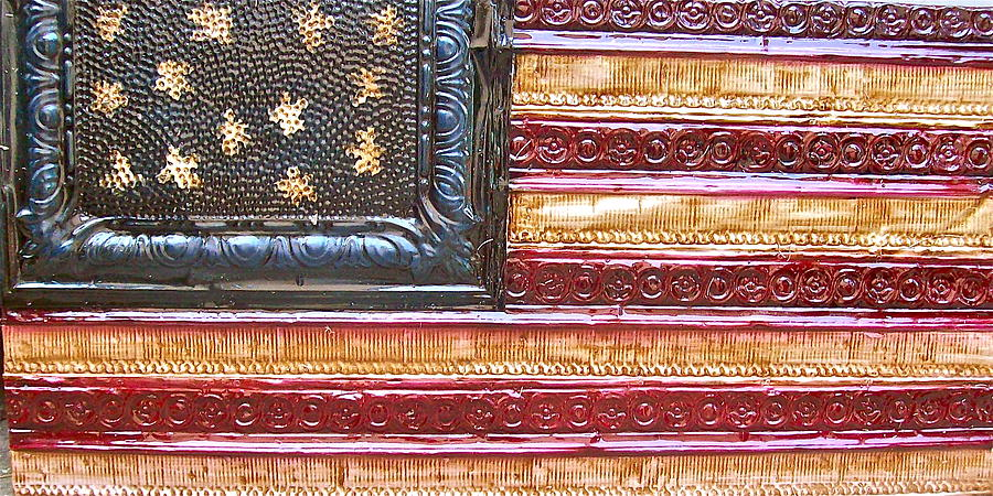 American Flag Painting - American Flag  by Kenny The Tin Man Hoff