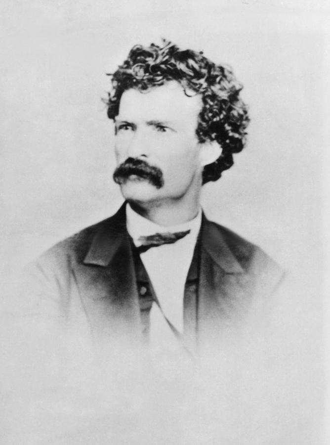 1860s Photograph - American Writer Mark Twain, Aka Samuel by Everett