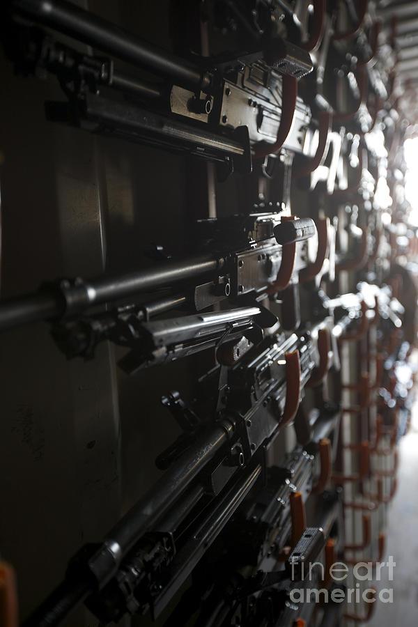 Pk Machine Gun Photograph - An Armory Of Pk Machine Guns Designed by Terry Moore