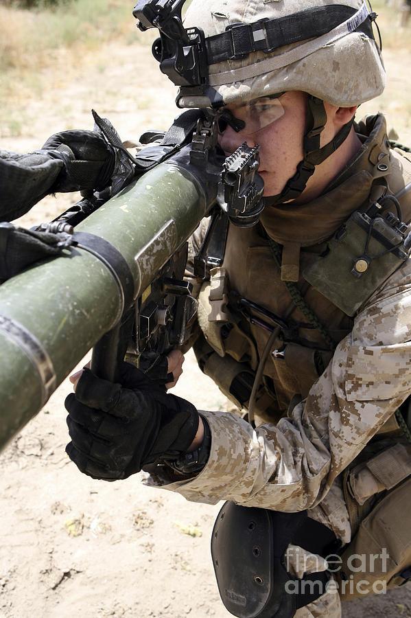 Aiming Photograph - An Assaultman Handles by Stocktrek Images