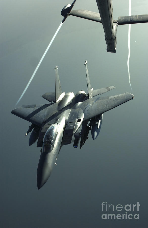 Color Image Photograph - An F-15e Strike Eagle Flies Over Iraq by Stocktrek Images