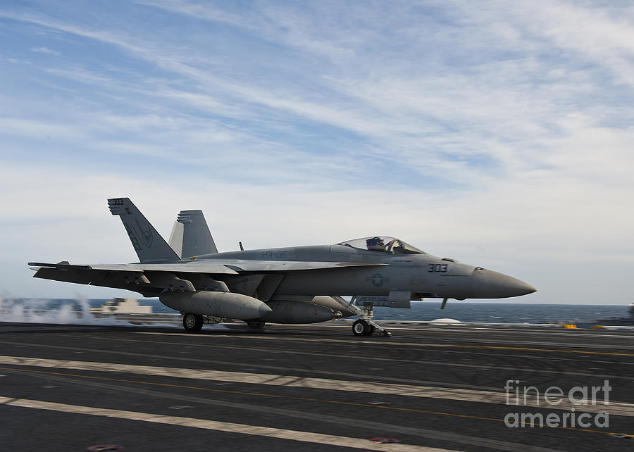 Side View Photograph - An Fa-18f Super Hornet Takes by Stocktrek Images