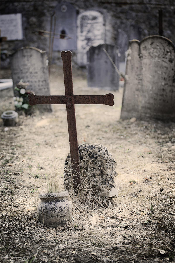 Cemetery Photograph - An Old Cemetery With Grave Stones by Joana Kruse