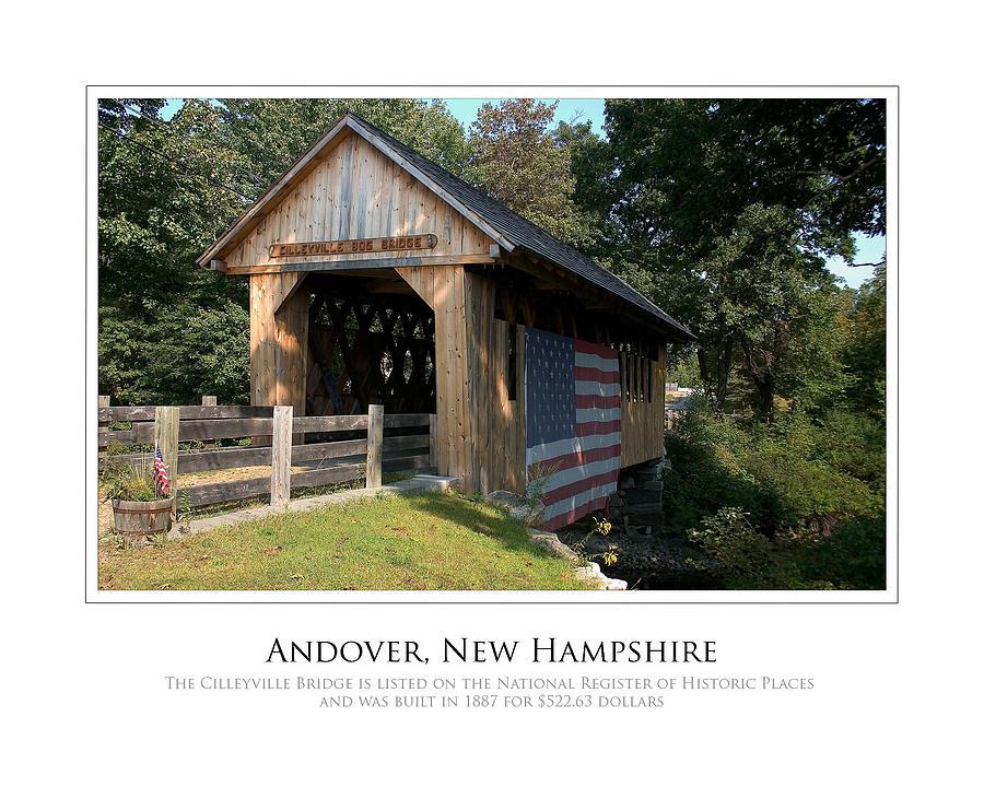 Andover Photograph - Andover Nh Historical Bridge by Jim McDonald Photography