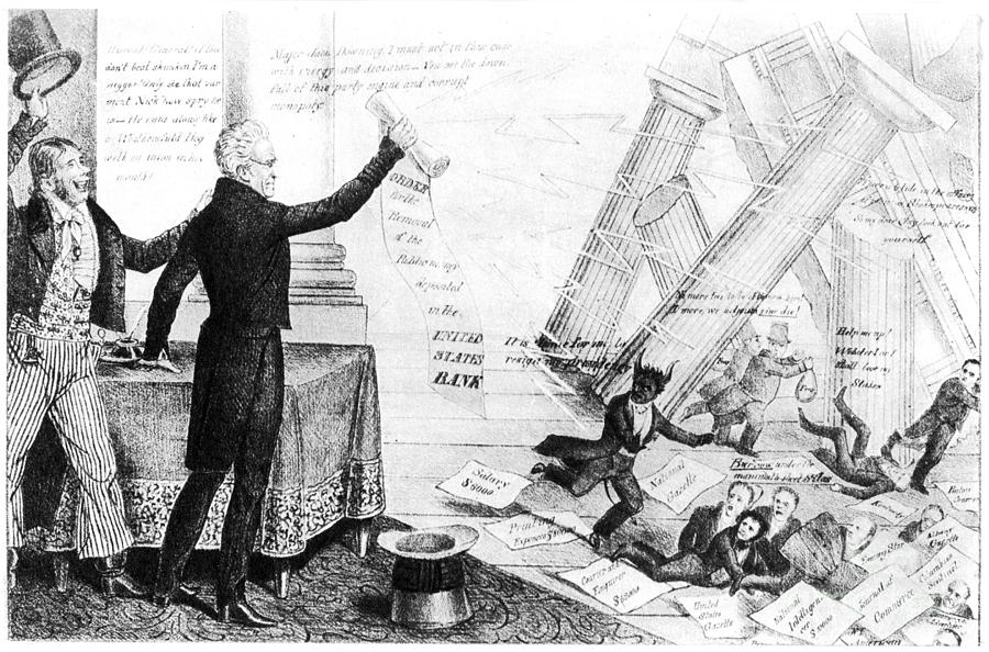 1833 Photograph - Andrew Jackson Cartoon by Granger