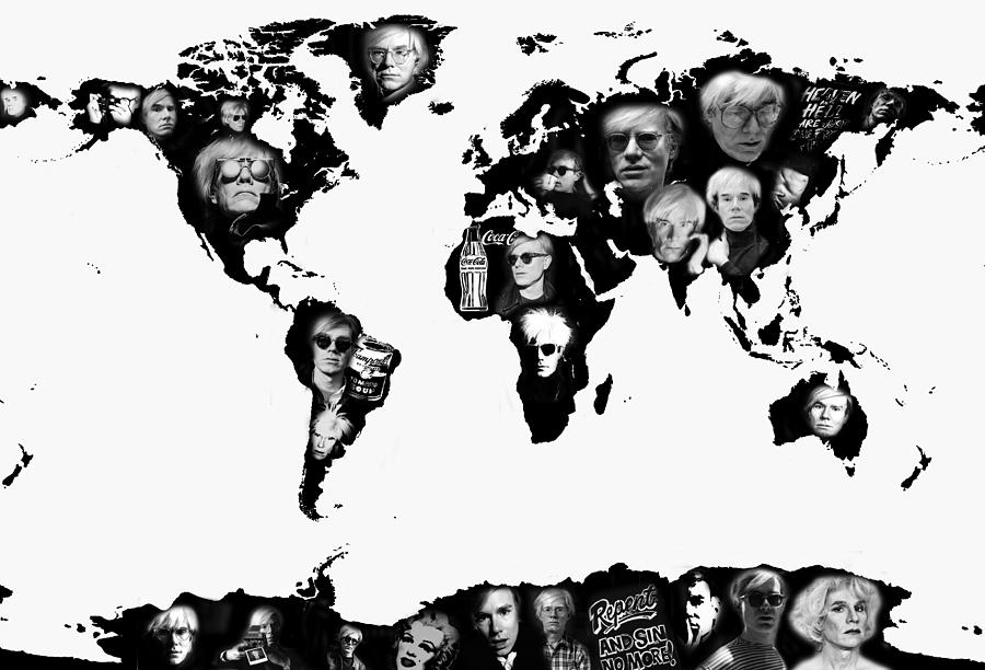 Andy Warhol Print Photograph - Andy Warhol World Map by Stephen Walker