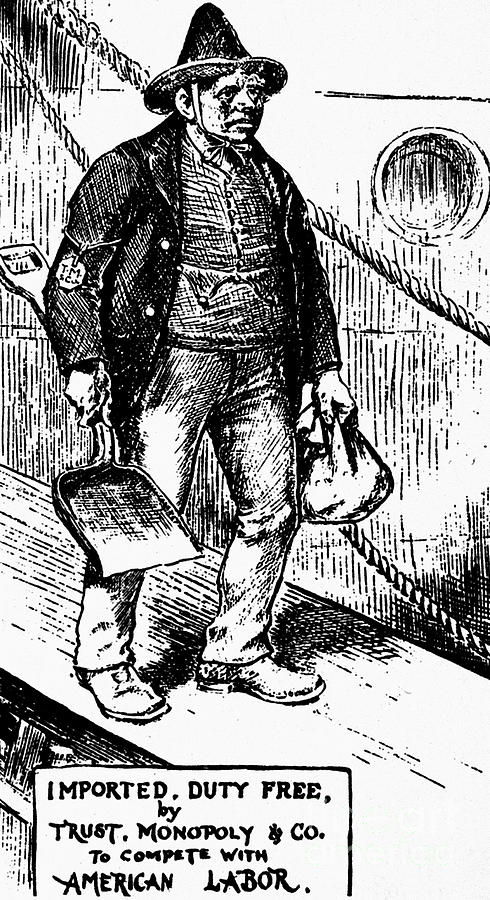 1888 Photograph - Anti-immigrant Cartoon by Granger