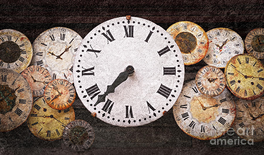 Clock Photograph - Antique Clocks by Elena Elisseeva