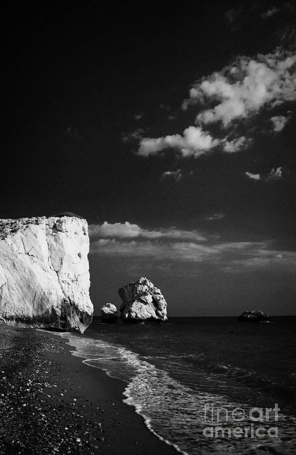 Aphrodites Photograph - Aphrodites Rock Petra Tou Romiou Republic Of Cyprus by Joe Fox