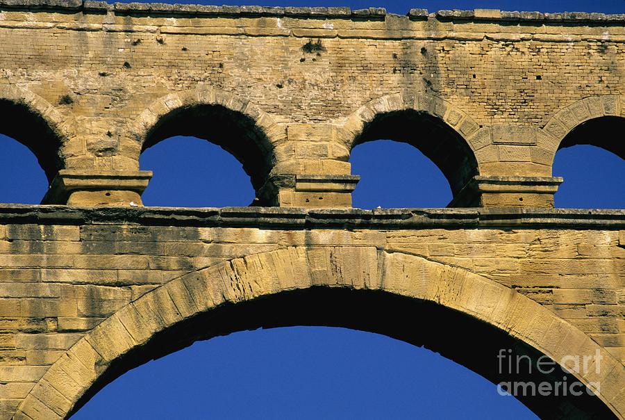 Europe Photograph - Aqueduc Du Pont Du Gard.provence by Bernard Jaubert