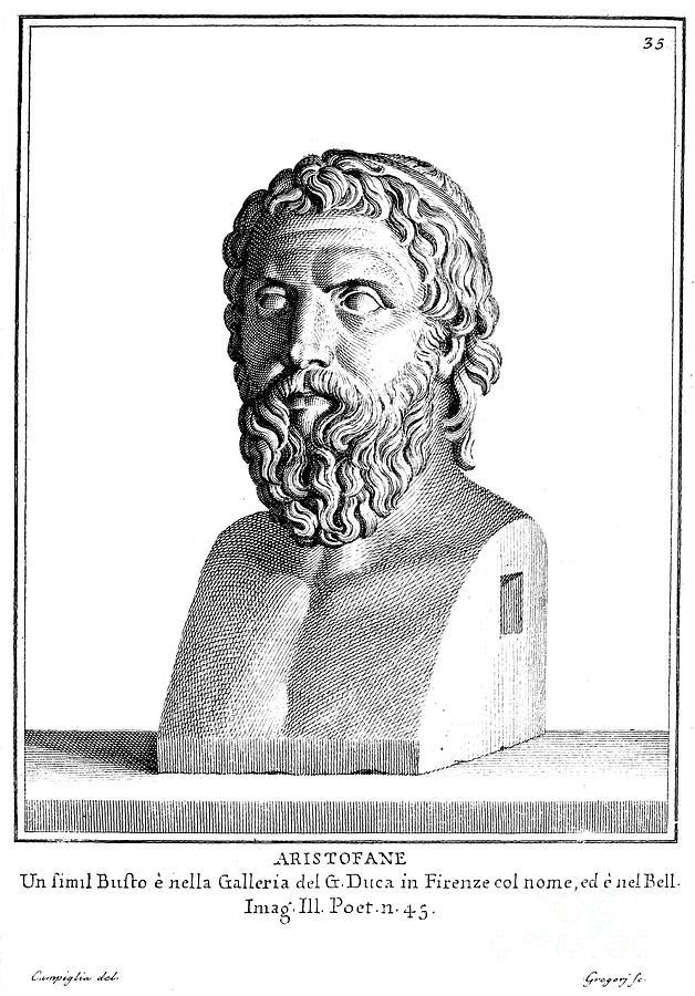 Ancient Photograph - Aristophanes (c450-c388 B.c.) by Granger