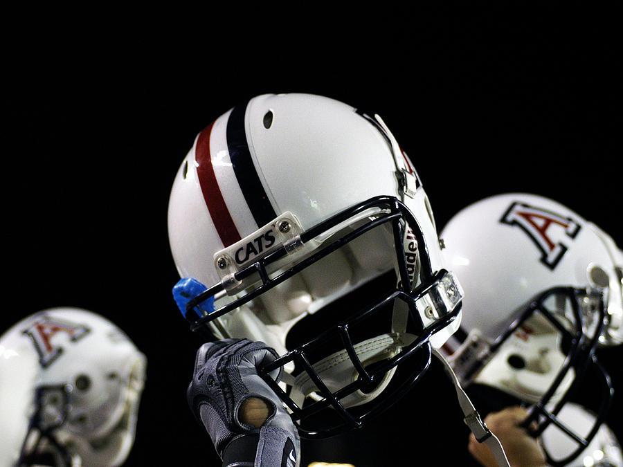 University Of Arizona Photograph - Arizona Football Helmets by University of Arizona
