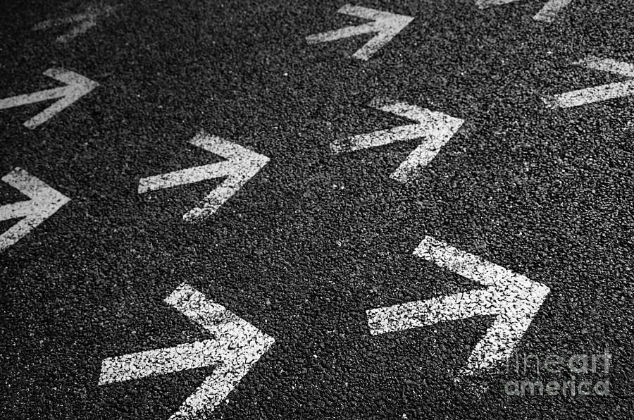 Abstract Photograph - Arrows On Asphalt by Carlos Caetano