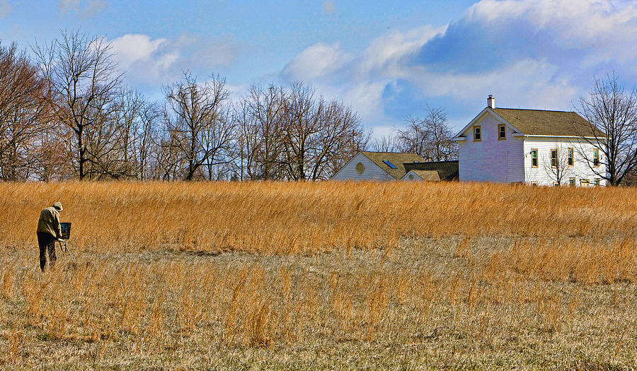 Bucks County Photograph - Artist In Field by William Jobes