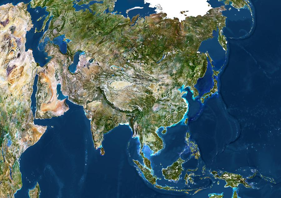 Asia Satellite Image Photograph By Planetobserver - Asia satellite map