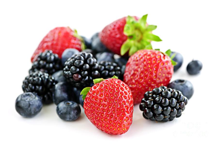 Berries Photograph - Assorted Fresh Berries by Elena Elisseeva