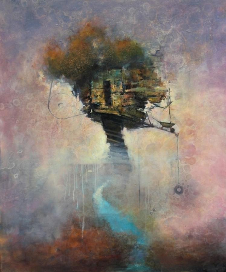 Tree Painting - Atelier by Joshua Smith