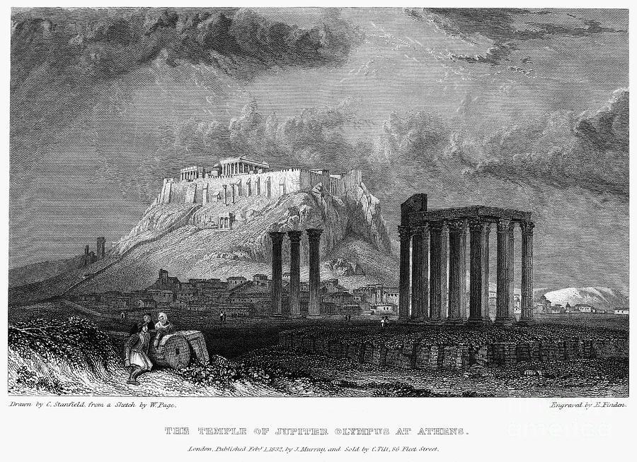 1832 Photograph - Athens: Olympian Zeus by Granger