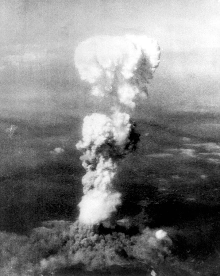 Air Force Photograph - Atomic Bomb. A Mushroom Cloud Rises by Everett