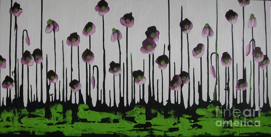 Violets Painting - Aubergine Autumn by Holly Donohoe