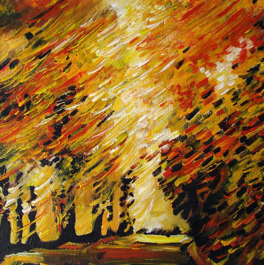 Original Painting - Autumn by Alexander Antonyuk