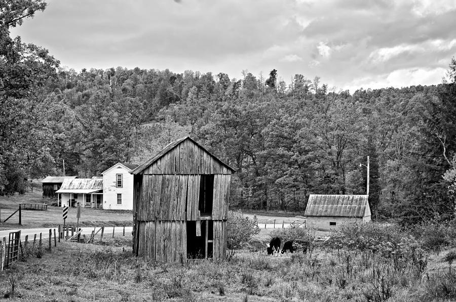 West Virginia Photograph - Autumn Farm Monochrome by Steve Harrington