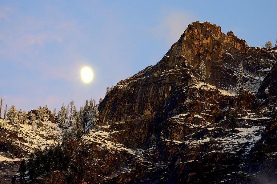 Moon Photograph - Autumn Moon by Lynn Bawden