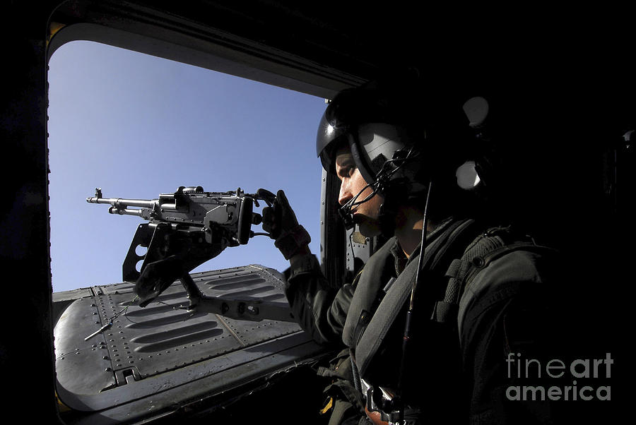 Helicopter Photograph - Aviation Warfare Systems Operator by Stocktrek Images