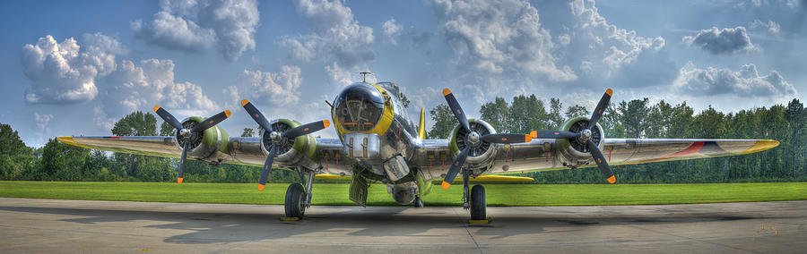 Planes Photograph - B-17 by Williams-Cairns Photography LLC