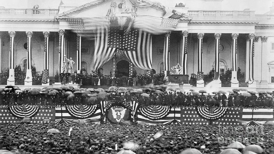 1889 Photograph - B. Harrison Inauguration by Granger