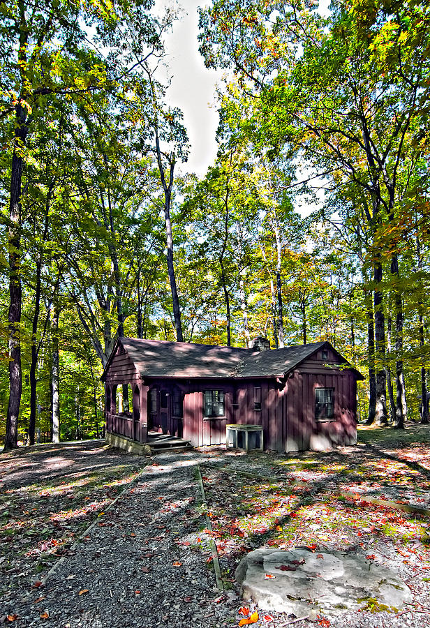 West Virginia Photograph - Babcock Cabin by Steve Harrington