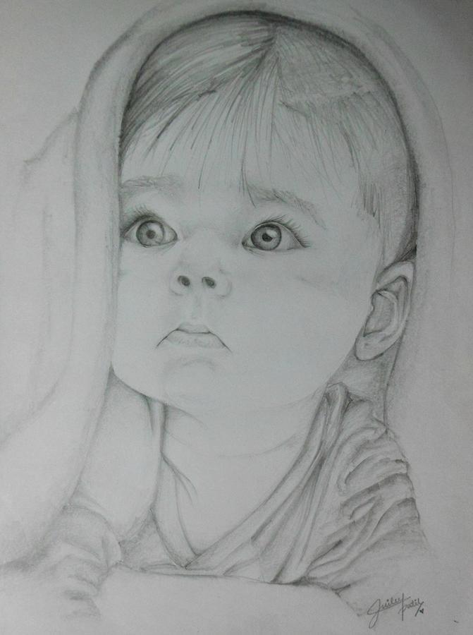 Innocence Drawing - Baby by Juilee Patil