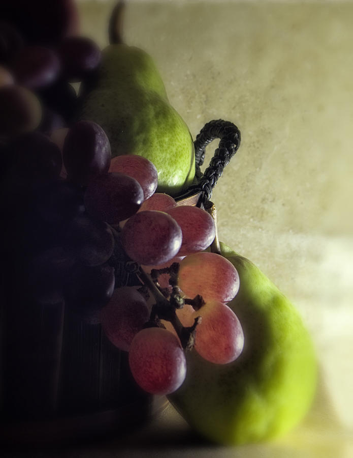 Fruit Photograph - Back Lit Grape Still Life by Andrew Soundarajan