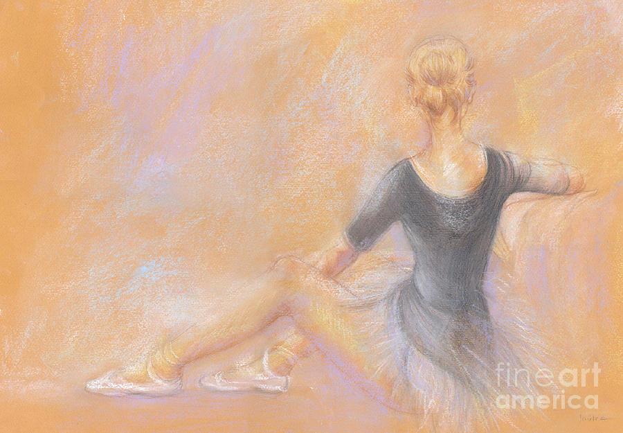 Pastel Drawing - Ballerina by Jovica Kostic