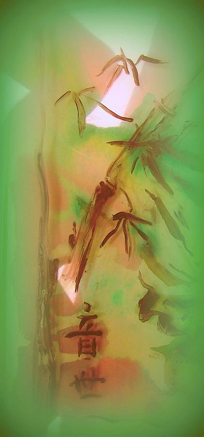 Bamboo Painting - Bamboo After Rain by Wendy Wiese