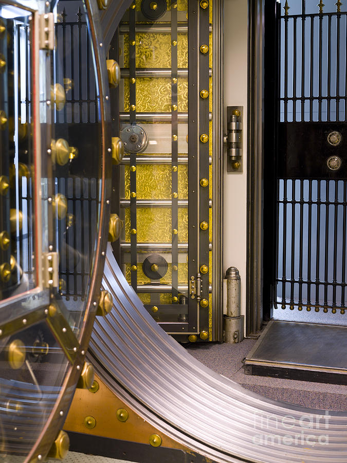 Architectural Photograph - Bank Vault Doors by Adam Crowley