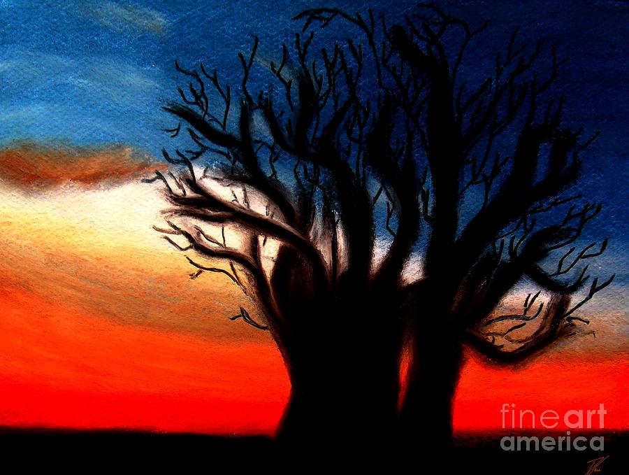 Baobab Pastel - Baobab Tree by Ayasha Loya