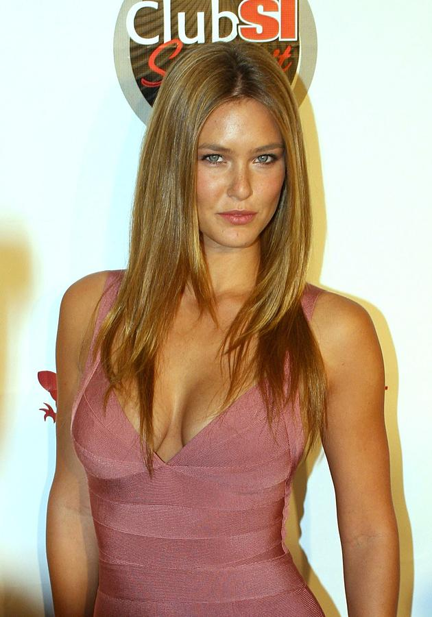 Sports Illustrated 2009 Swimsuit Issue Party Photograph - Bar Refaeli Wearing A Herve Leged Dress by Everett