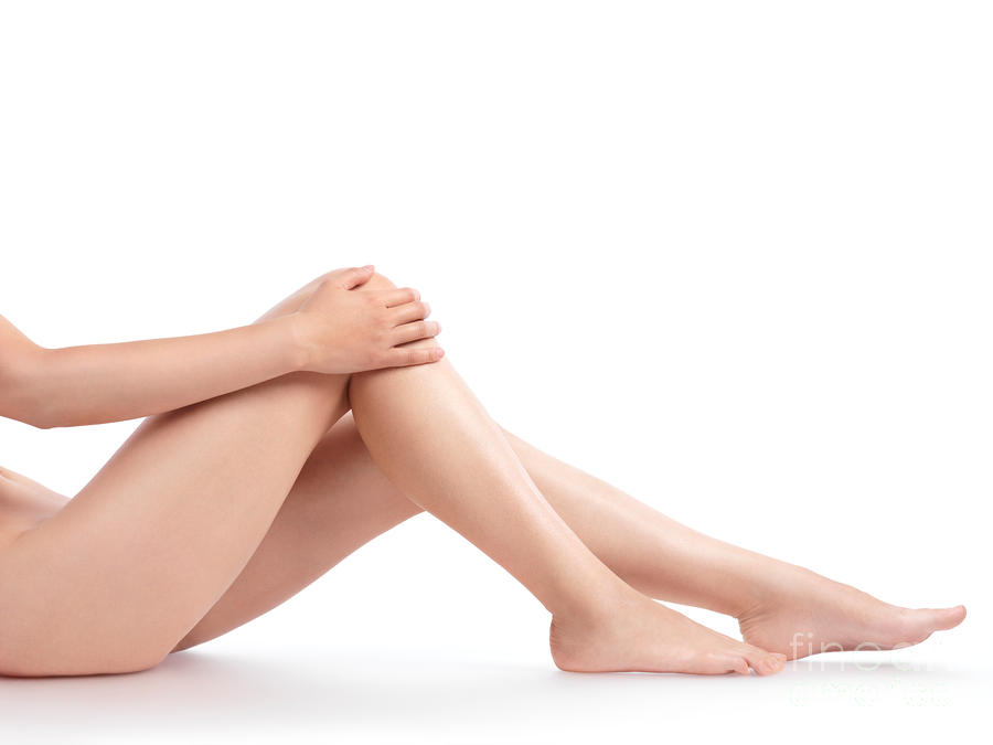 Legs Photograph - Bare Woman Legs by Maxim Images Prints