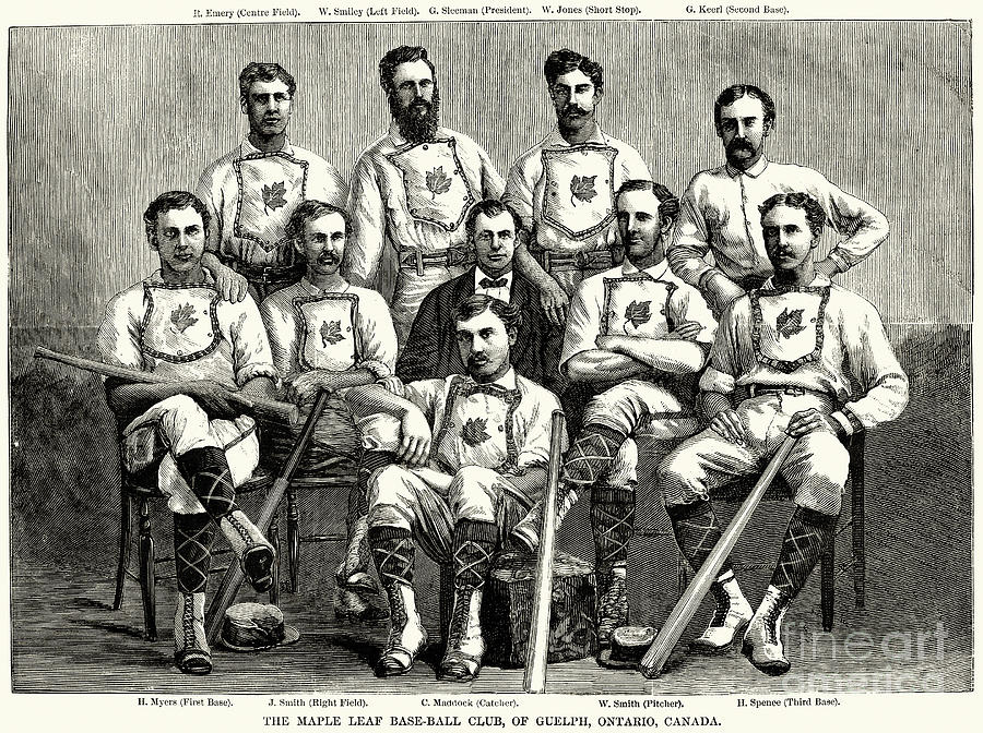 1874 Photograph - Baseball: Canada, 1874 by Granger