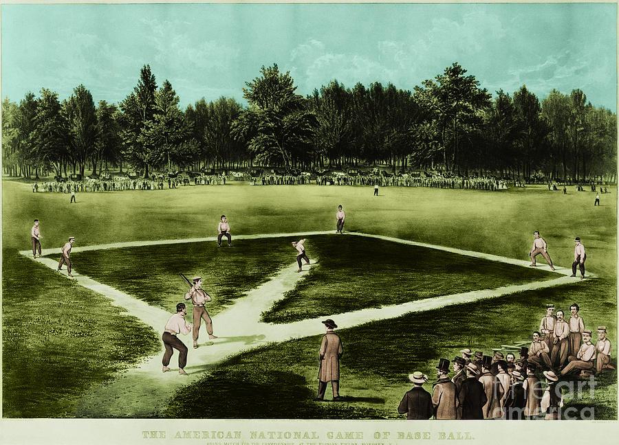 Baseball Photograph - Baseball In 1846 by Omikron