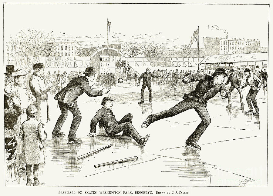 1884 Photograph - Baseball On Ice, 1884 by Granger